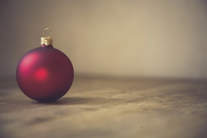 red christmas ball decoration