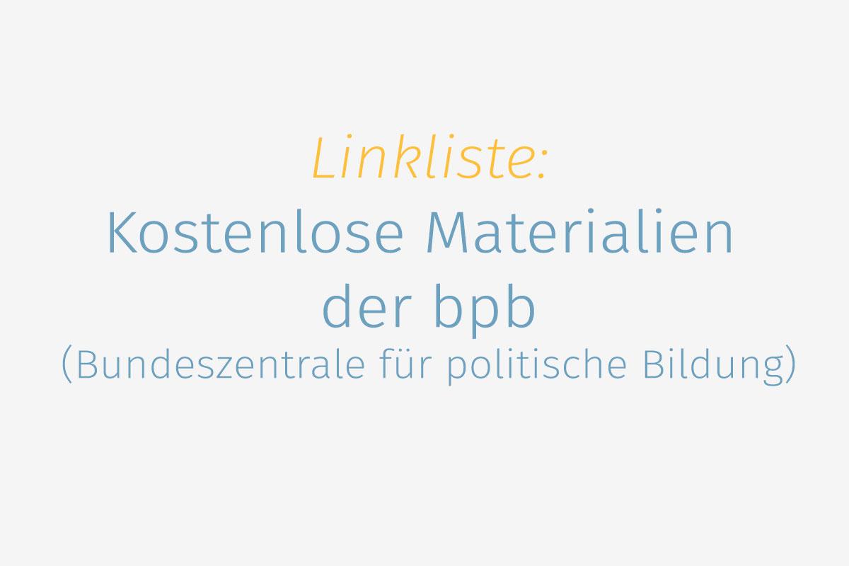 Kostenlose bpb-Materialien für den Deutschunterricht - DaF für ...