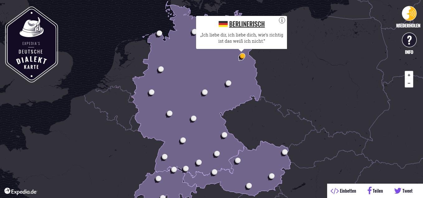 Ganz und zu Extrem Dialekt-Karte - Dialekte im Unterricht thematisieren - DaF für #OU_41